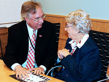 Eileen Hoehn Fallon '46 DHY shares photos of her class with Dean  Patrick M. Lloyd.