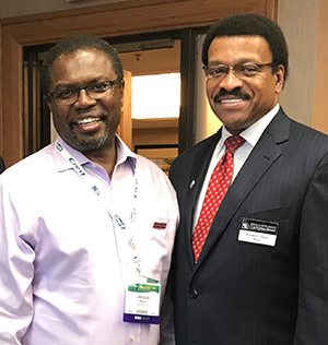 Jacinto Beard, '90 DDS; and Kenneth B. Chance, DDS, dean, Case Western Reserve University School of Dental Medicine,