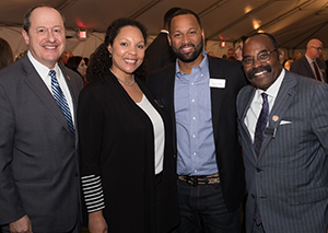 Representative David Leland, The Ohio House of Representatives; Heather Crockett-Miller, '08 DDS, MPH; Marcus Miller; and Representative Hercel Craig, The Ohio House of Representatives