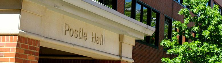 Postle Hall entrance